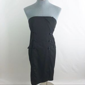 The limited strapless button fitted Sheath dress 6